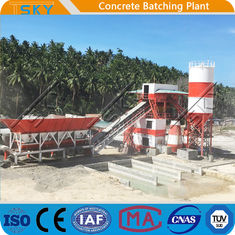 SGS 18.5x2KW 50m3 / h HZS50 RMC Batching Plant